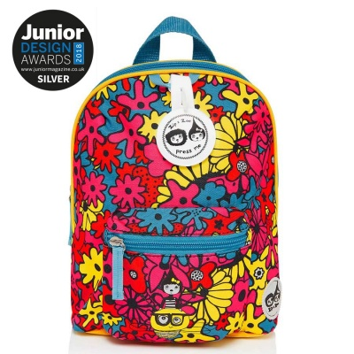Zip and Zoe Mini Backpack with Reins - Floral Brights